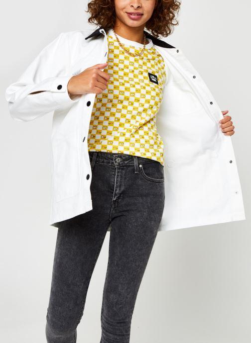 Vêtements Vans Make Me Your Own Drill Chore Coat Blanc vue détail/paire