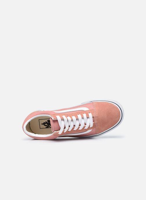 Sneaker Vans UA Old Skool II rosa ansicht von links