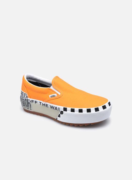 Deportivas Vans UA Classic Slip-On Stacked Naranja vista de detalle / par