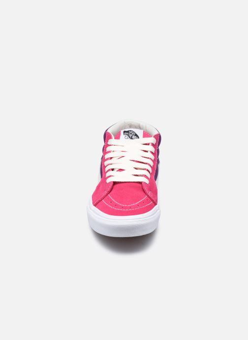 Baskets Vans UA SK8-Mid (RETRO SPORT)CA Rose vue portées chaussures