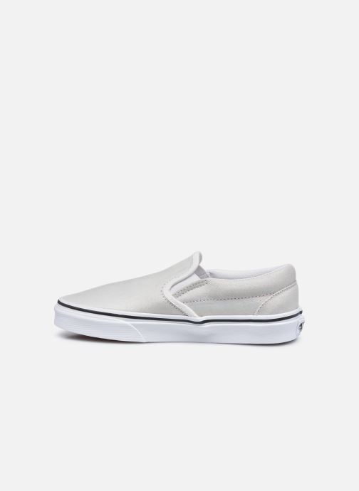 Sneaker Vans UA Classic Slip-On (PRISM SUEDE)MT silber ansicht von vorne