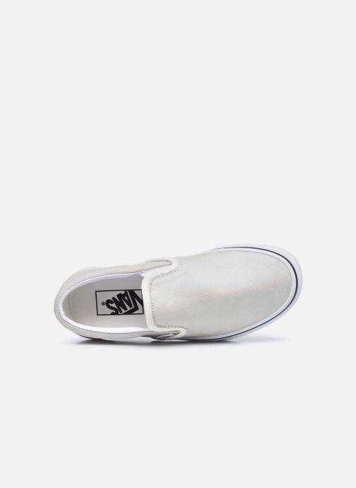 Sneaker Vans UA Classic Slip-On (PRISM SUEDE)MT silber ansicht von links