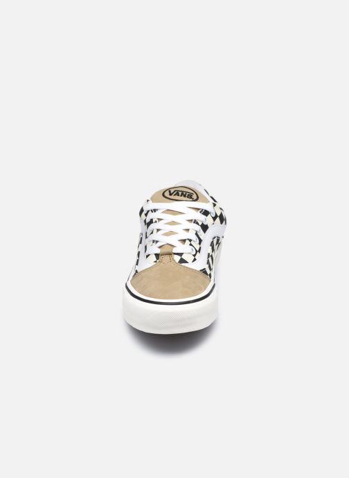 Baskets Vans UA Shape NI (CHKRBRD) KELP/ Noir vue portées chaussures