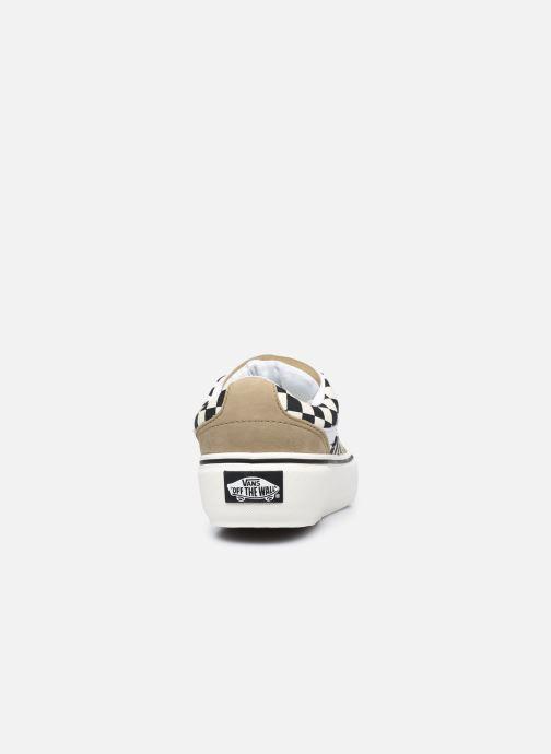 Baskets Vans UA Shape NI (CHKRBRD) KELP/ Noir vue droite