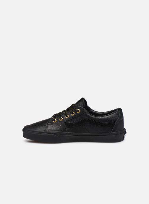 Sneaker Vans UA SK8-Low (Leather) Black schwarz ansicht von vorne