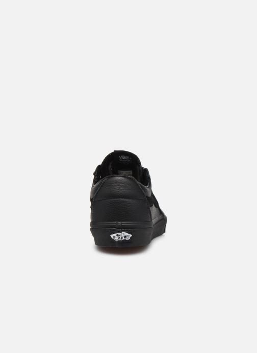Sneaker Vans UA SK8-Low (Leather) Black schwarz ansicht von rechts