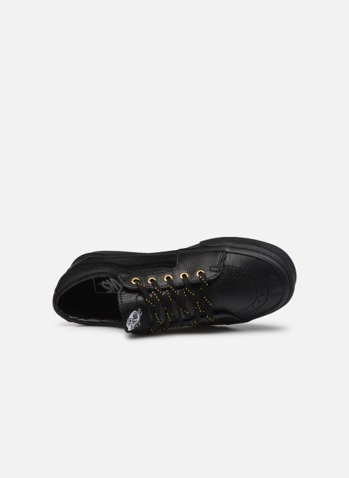 Sneaker Vans UA SK8-Low (Leather) Black schwarz ansicht von links