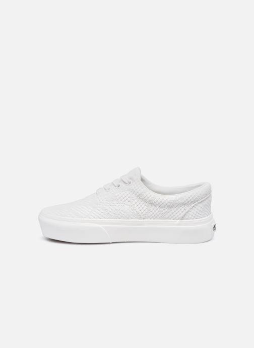 Sneaker Vans UA Era Platform (ANIMAL) EMBOSS weiß ansicht von vorne