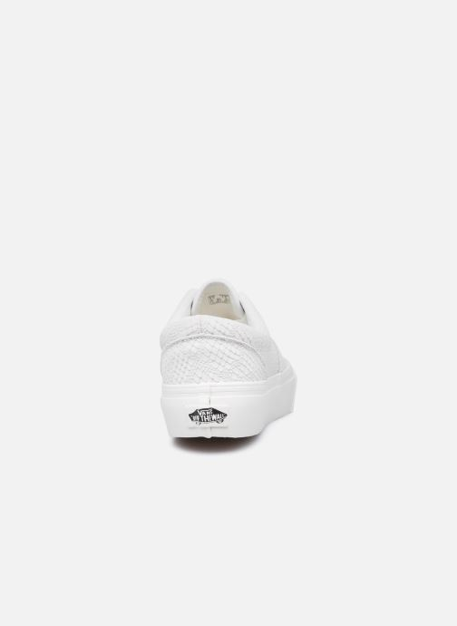 Sneaker Vans UA Era Platform (ANIMAL) EMBOSS weiß ansicht von rechts