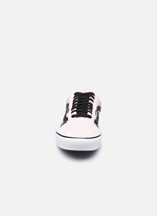 Baskets Vans UA ComfyCush Old S (SIXTY SIXERS)B Rose vue portées chaussures