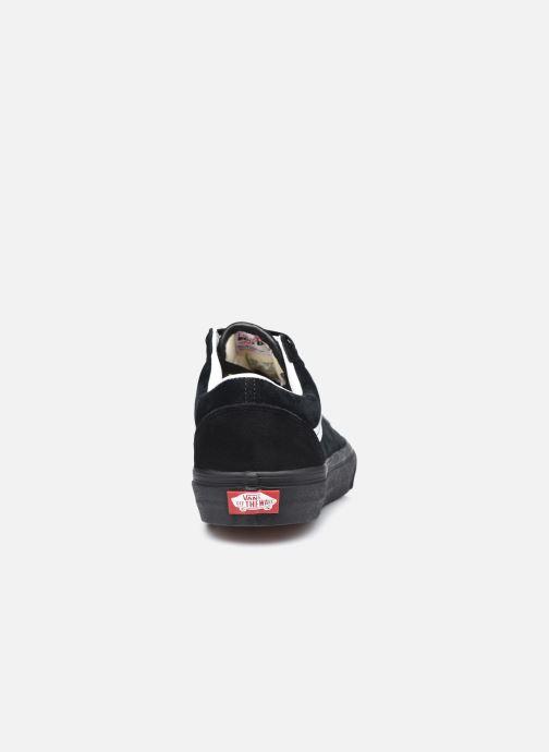 Baskets Vans UA Old Skool (PIG SUEDE) BLA Noir vue droite