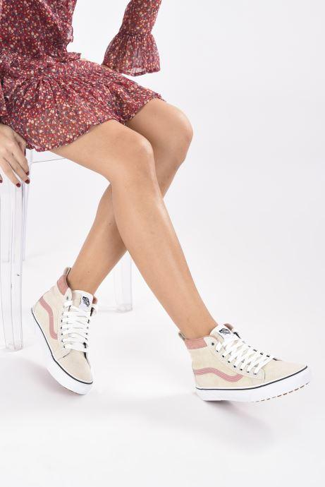 Sneaker Vans UA SK8-Hi MTE (MTE) SUEDE/ANT weiß ansicht von unten / tasche getragen