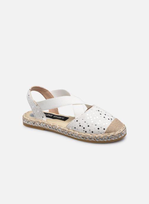 Espadrilles I Love Shoes THEMIE Blanc vue détail/paire