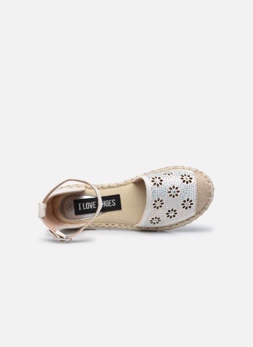 Espadrilles I Love Shoes THERRE weiß ansicht von links