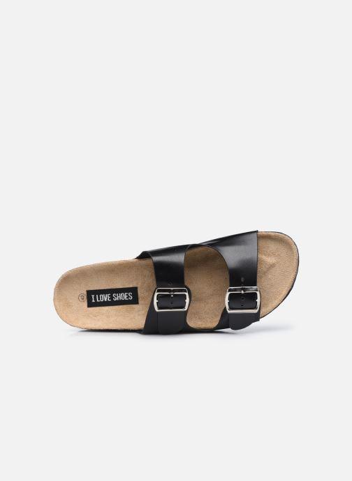 Sandales et nu-pieds I Love Shoes THIC M Noir vue gauche