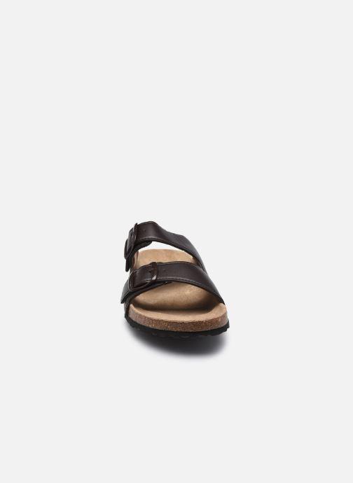 Sandales et nu-pieds I Love Shoes THIC M Marron vue portées chaussures