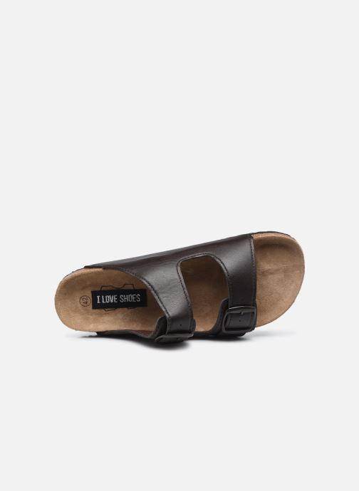 Sandales et nu-pieds I Love Shoes THIC M Marron vue gauche