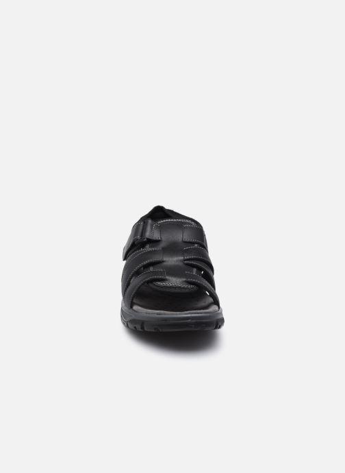 Sandali e scarpe aperte I Love Shoes THEDISSI LEATHER Nero modello indossato