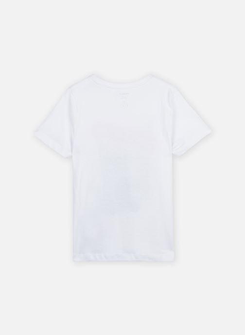 Vêtements Name it NKMJETHRO SS TOP CAMP Blanc vue portées chaussures