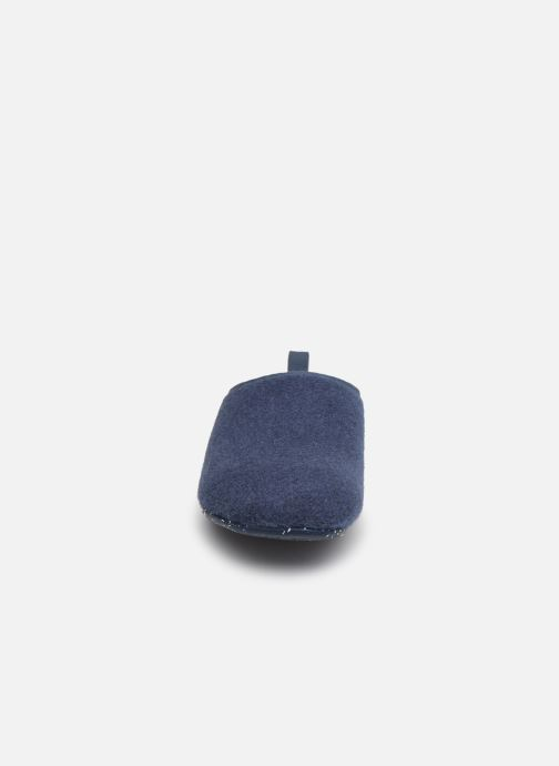 Chaussons Camper Wabi Bleu vue portées chaussures