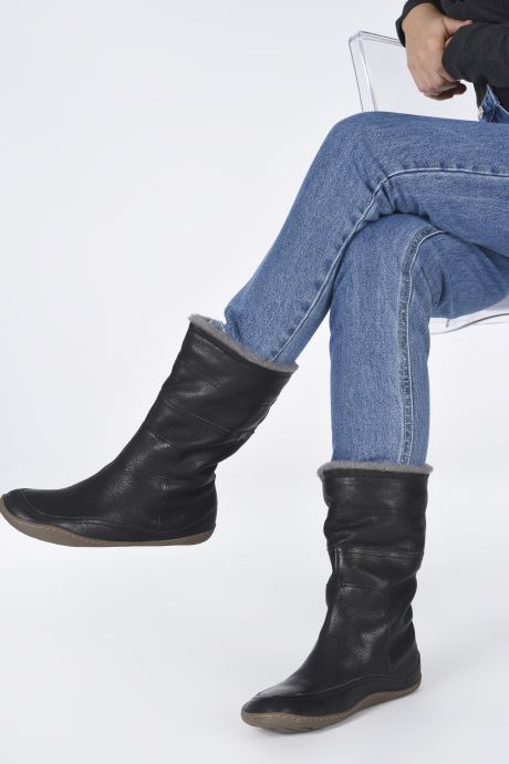 Bottes Camper Peu Cami Boots Noir vue bas / vue portée sac