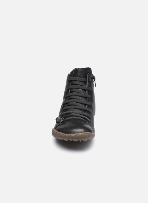 Sneaker Camper Peu Cami Mid braun schuhe getragen