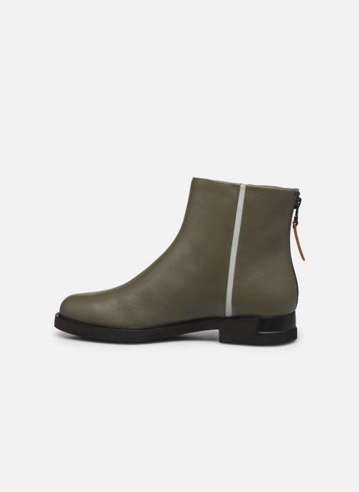Bottines et boots Camper Twins Zip Vert vue face