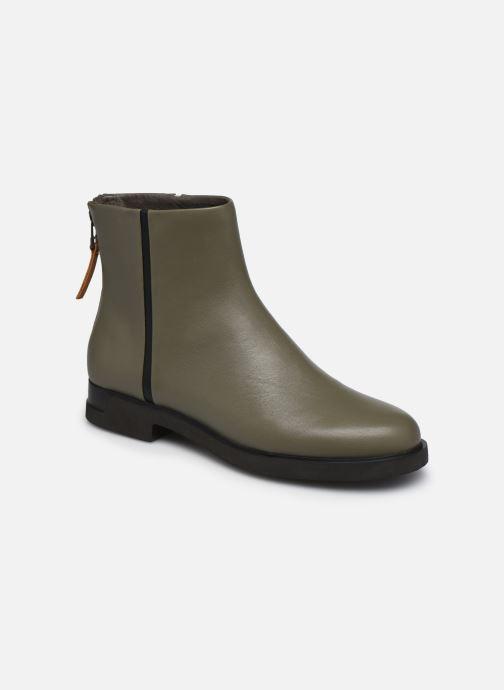 Bottines et boots Camper Twins Zip Vert vue détail/paire