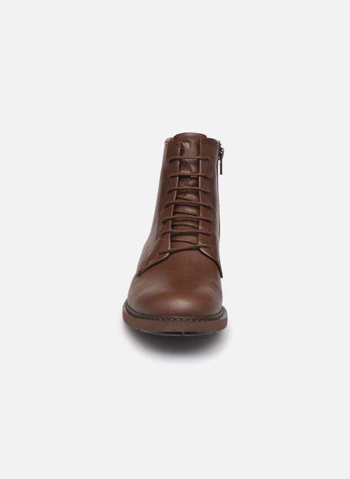Bottines et boots Camper Neuman Bikers Marron vue portées chaussures