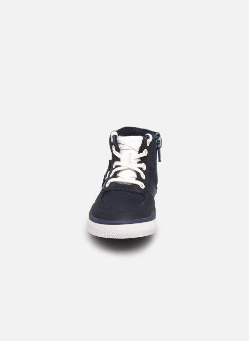 Sneaker Clarks City Flake T blau schuhe getragen