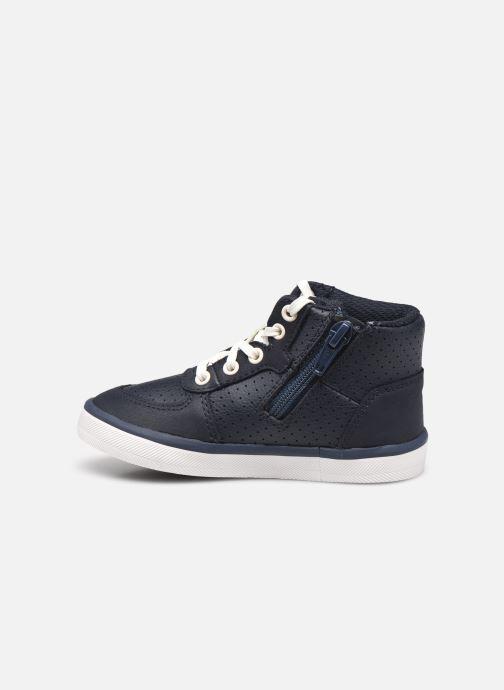 Sneaker Clarks City Flake T blau ansicht von vorne