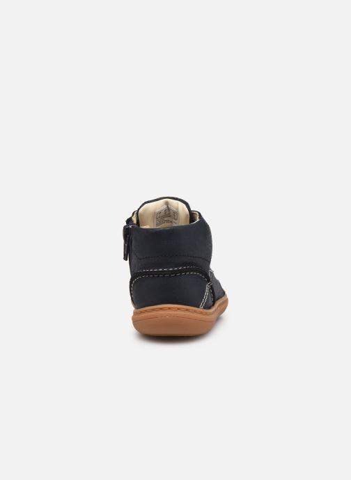 Bottines et boots Clarks Flash Desert T Bleu vue droite