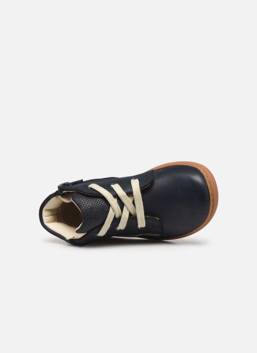 Bottines et boots Clarks Flash Desert T Bleu vue gauche