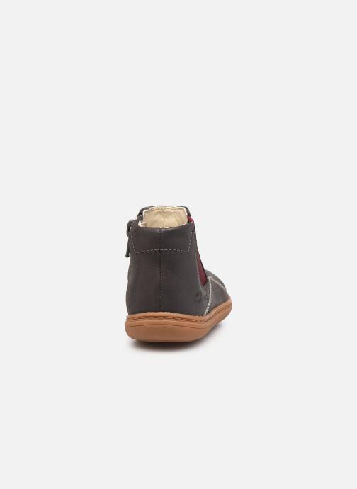 Bottines et boots Clarks Flash Sea T Gris vue droite