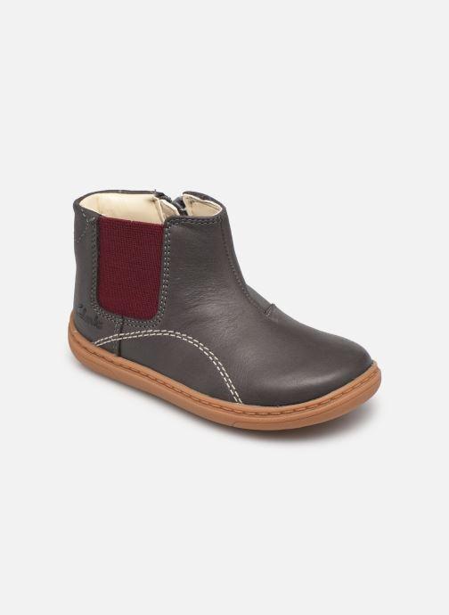Bottines et boots Clarks Flash Sea T Gris vue détail/paire