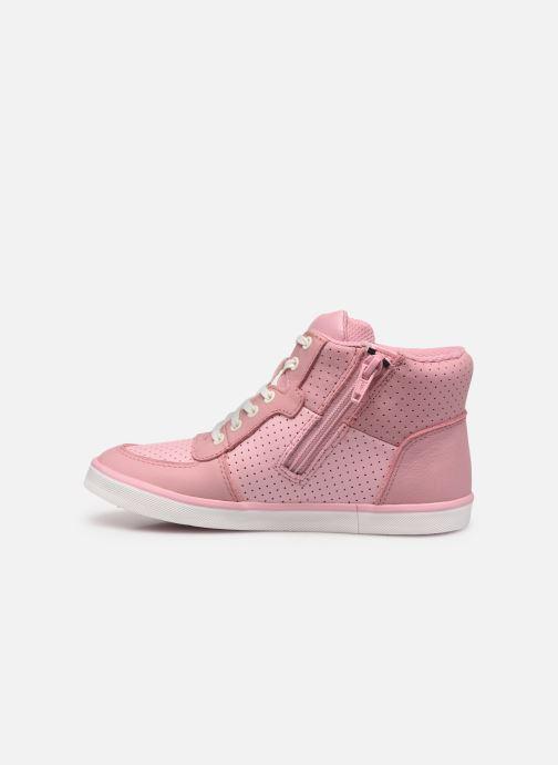 Sneaker Clarks City Flake K rosa ansicht von vorne