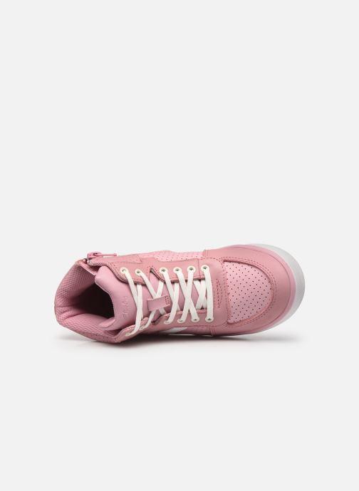 Sneaker Clarks City Flake K rosa ansicht von links