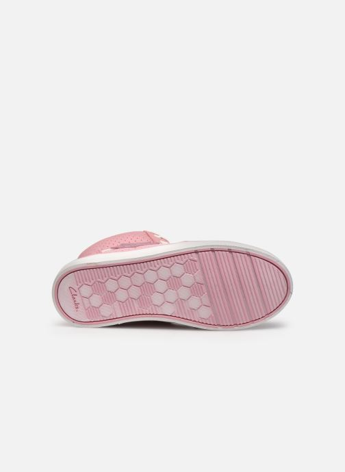 Sneaker Clarks City Flake K rosa ansicht von oben