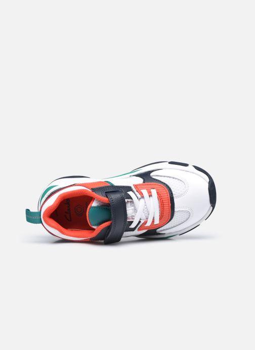 Sneaker Clarks Kuju Run K weiß ansicht von links