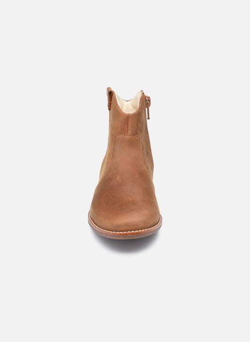 Bottines et boots Clarks Drew North K Marron vue portées chaussures