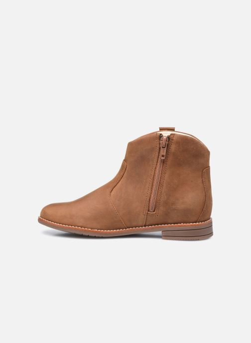 Bottines et boots Clarks Drew North K Marron vue face