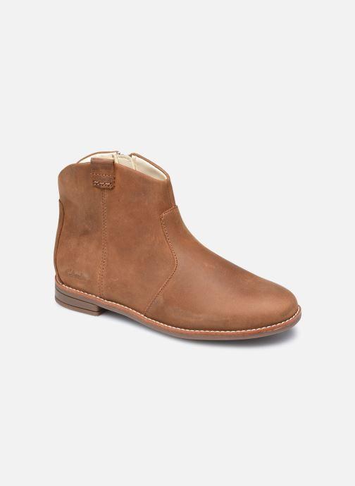 Bottines et boots Clarks Drew North K Marron vue détail/paire