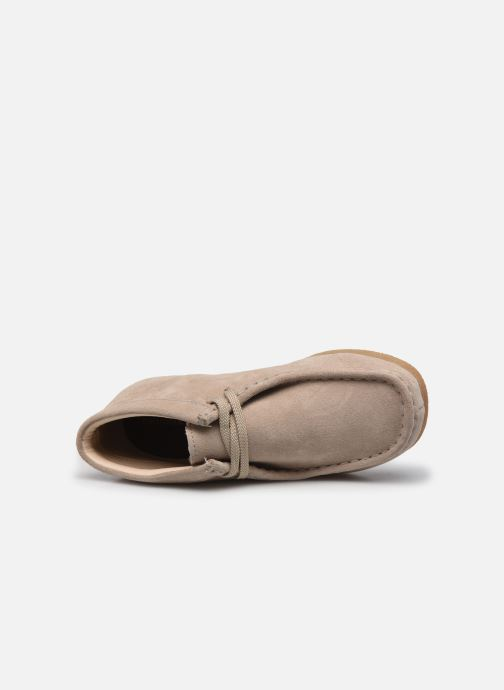 Veterschoenen Clarks Wallabee Bt.. Beige links