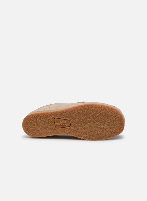 Chaussures à lacets Clarks Wallabee Bt.. Beige vue haut