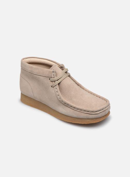 Chaussures à lacets Clarks Wallabee Bt.. Beige vue détail/paire