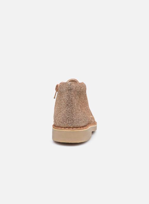 Bottines et boots Clarks Desert Boot2 K Or et bronze vue droite