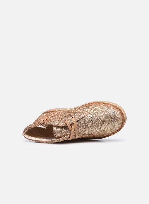 Boots en enkellaarsjes Clarks Desert Boot2 K Goud en brons links