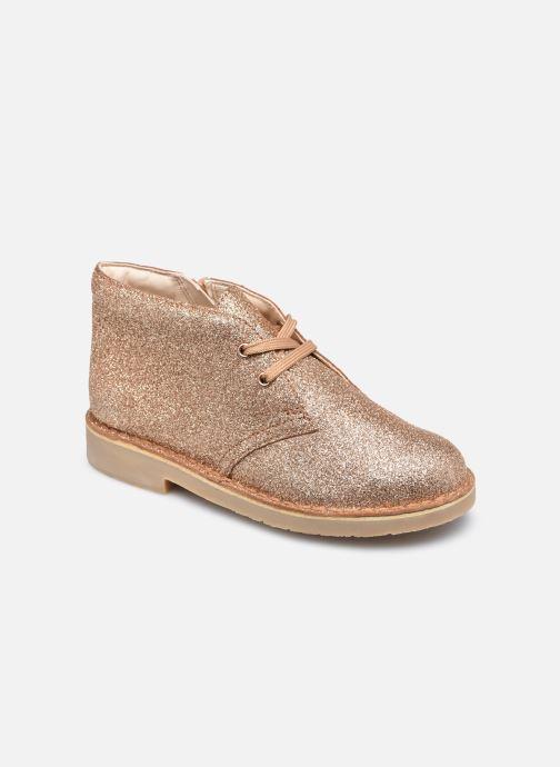 Botines  Clarks Desert Boot2 K Oro y bronce vista de detalle / par