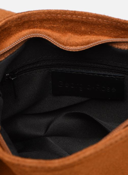 Handtassen Georgia Rose Martha Leather Bruin achterkant