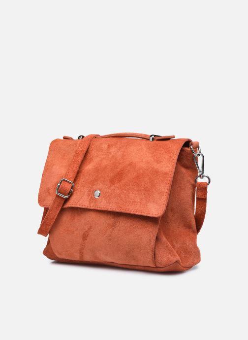 Bolsos de mano Georgia Rose Marilou Leather Rojo vista del modelo